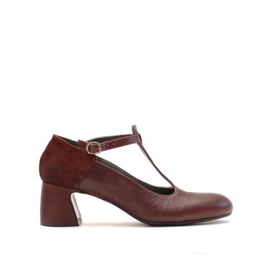 Lilimill Magenta Mid Heel Shoes