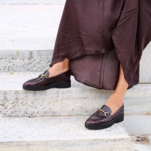 The-Bag-Crocco-Print-Burgundy-Leather-Loafers-