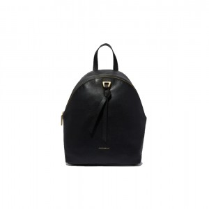 Coccinelle Joy Black Grainy Leather Backpack