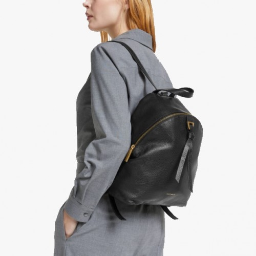 Coccinelle Joy Black Grainy Leather Backpack 2