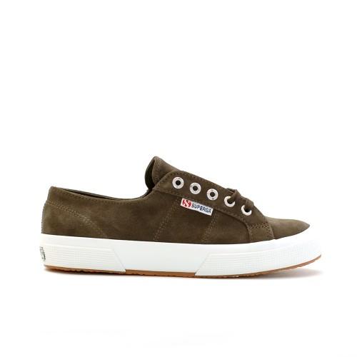 Superga 2750 Khaki Suede Sneakers