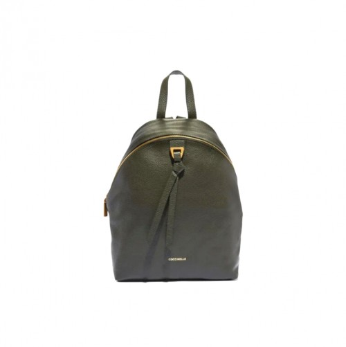 Coccinelle Joy Khaki Leather Backpack