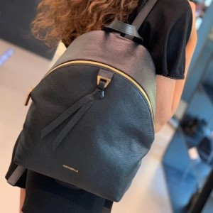 Coccinelle Joy Khaki Leather Backpack 6