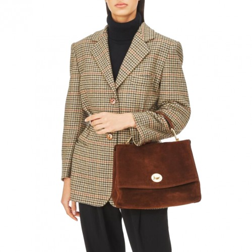 Coccinelle-Liya-Brown-Suede-Handbag-2