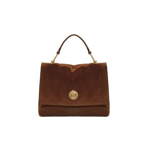 Coccinelle Liya Brown Suede Handbag