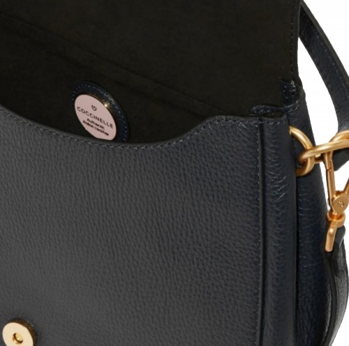 Coccinelle Zaniah Black Leather Shoulder Bag 3