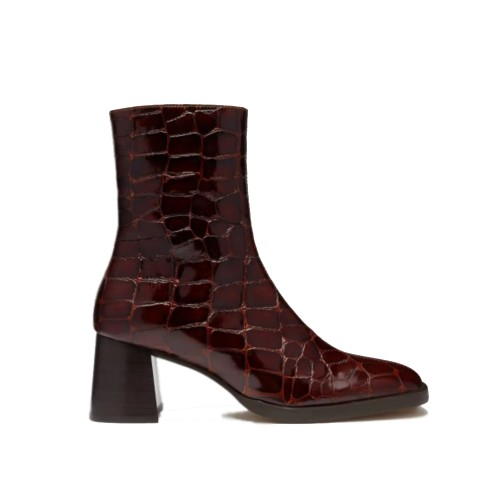E8 by Miista Franny Armagnac Croc Ankle Boots