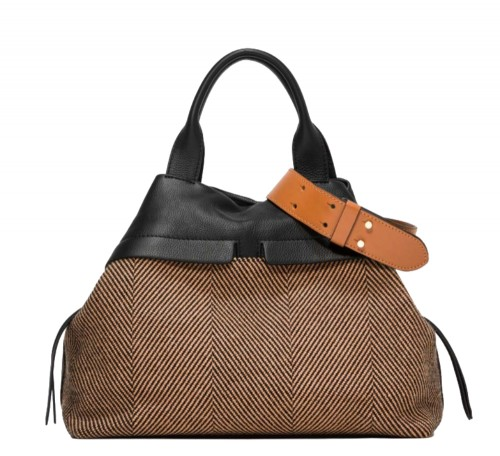 Gianni Chiarini Duna Herringbone Shoulder Bag