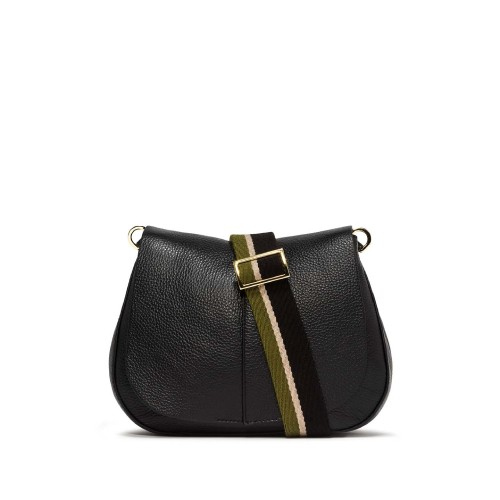 Gianni Chiarini Helena Medium Black Shoulder Bag