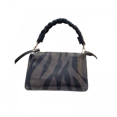 Kate Koll Green Zebra Print Mini Bag