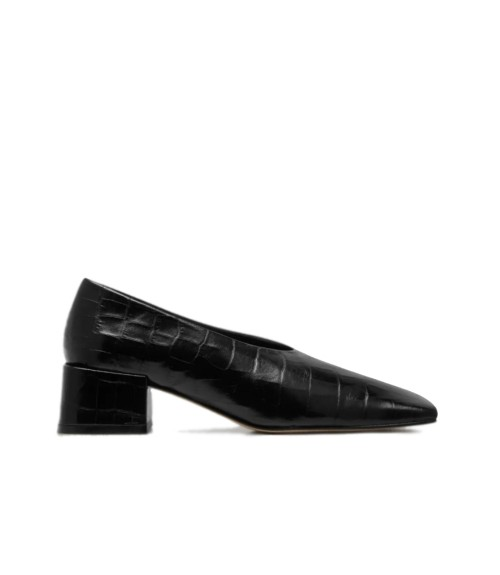 Miista Ivya Black Croc Pumps