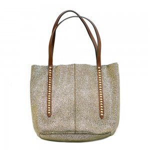 Nanni-Metalic-Leather-Shopper-Bag
