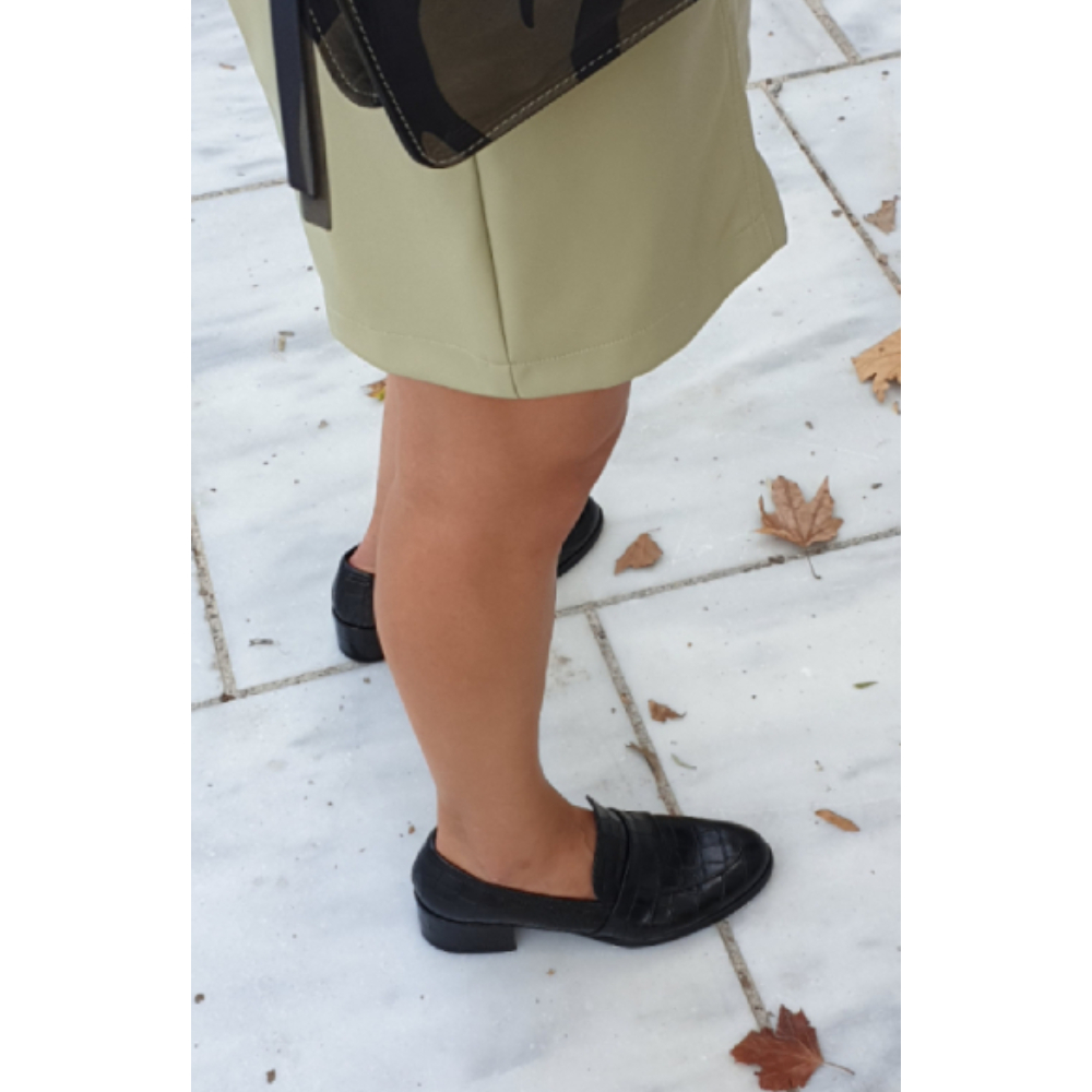 The Bag Black Heeled Loafers