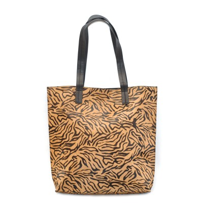 Unmade Lamb Leather Tiger Print Shopper