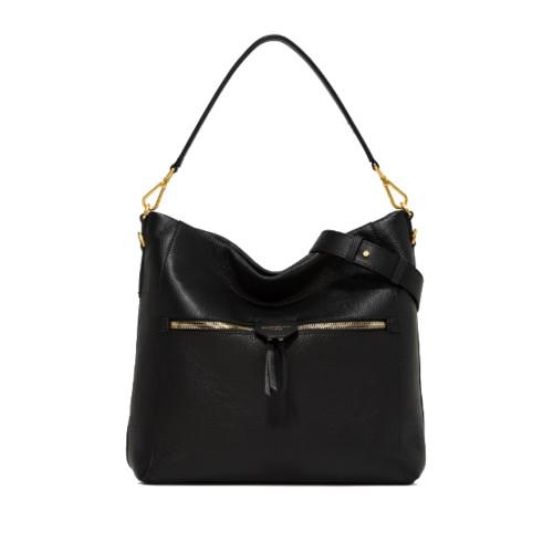 Gianni Chiarini Marica Black Shoulder Bag