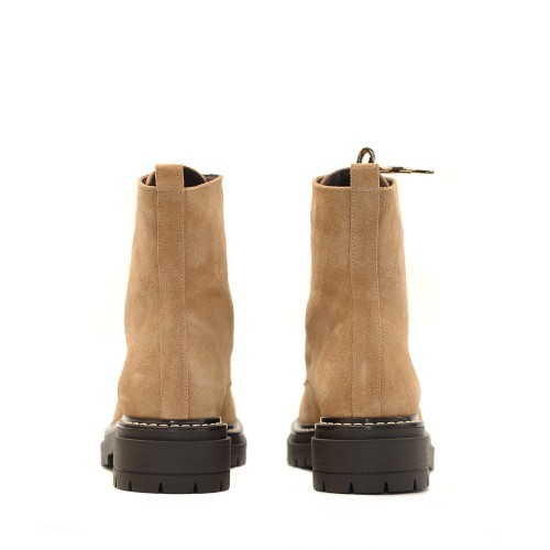 KMB Beige Suede Lace Up Boots (1)