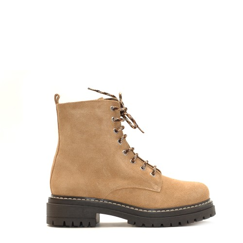 KMB Beige Suede Lace Up Boots (3)