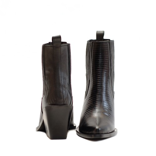 KMB Black Western Ankle Boots (3)