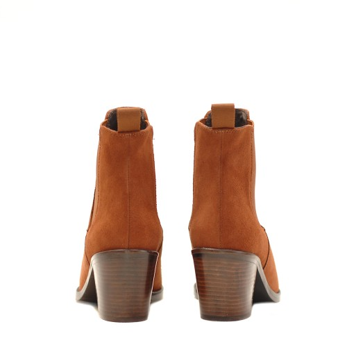 KMB Brick Suede Pointed Ankle Boots 3