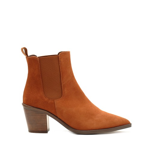 KMB Brick Suede Pointed Ankle Boots