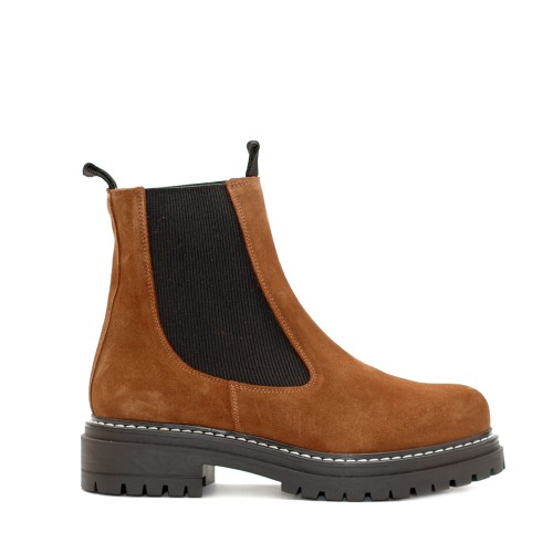 KMB Tan Suede Chelsea Boots
