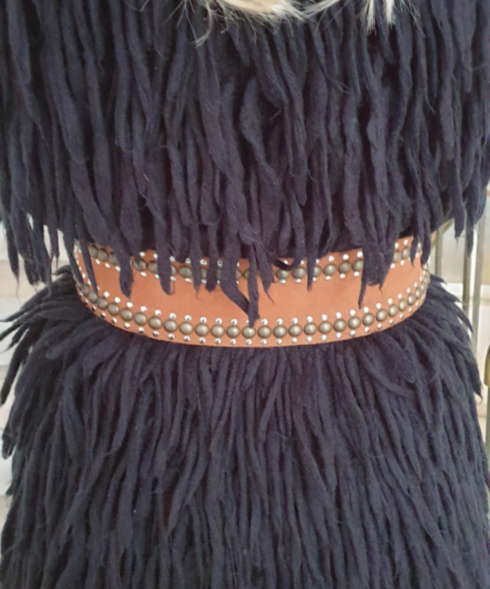 Nanni Tan Suede Tie Up Belt 5
