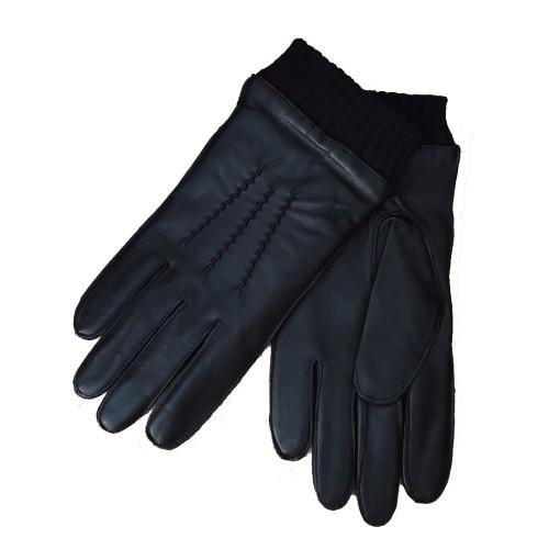 Niutrack black lether mens gloves