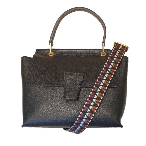 Gianni Chiarini Elettra Black Leather Bag