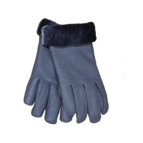 Grey Shearling Gloves 11