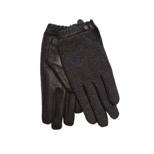 Unmade Black Two Faced Leather Gloves 1