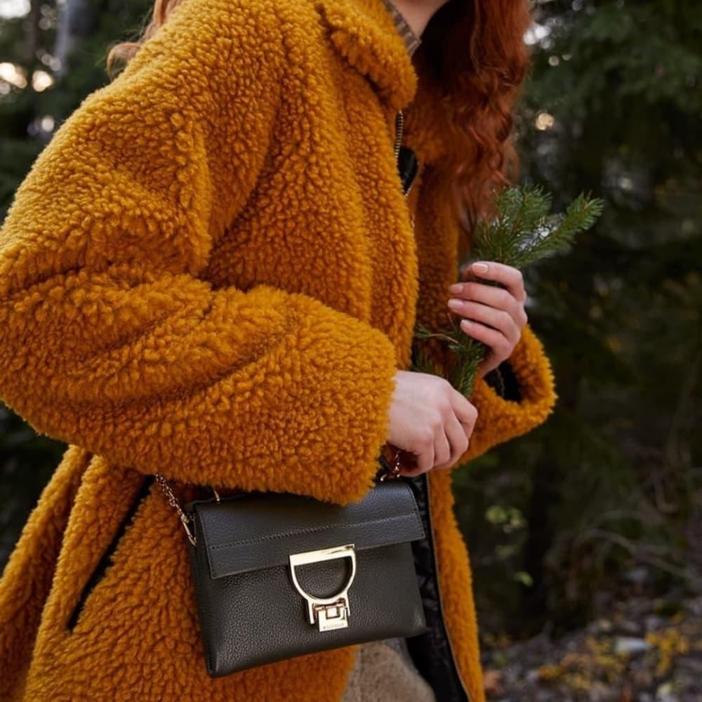 Coccinelle Arlettis Mini Black Leather Bag