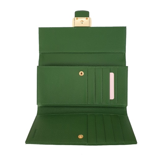 Coccinelle Green Leather Wallet (1)