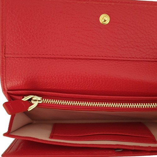 Coccinelle Red Leather Wallet (1)