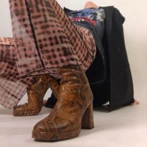 Miista Carlota Sandstone Snake Boots
