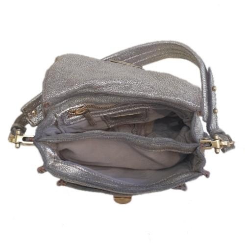 Caterina Lucchi Metalic Suede Mini Bag