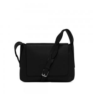 Gianni Chiarini Alba Black Leather Shoulder Bag