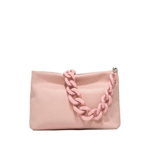 Gianni Chiarini Brenda Powder Pink Leather Shoulder Bag