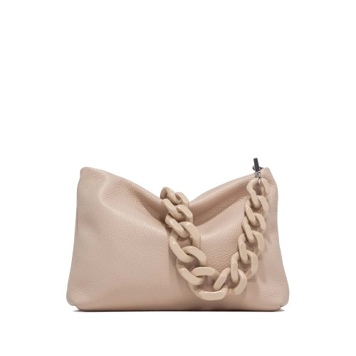 Gianni Chiarini Brenda Beige Leather Shoulder Bag