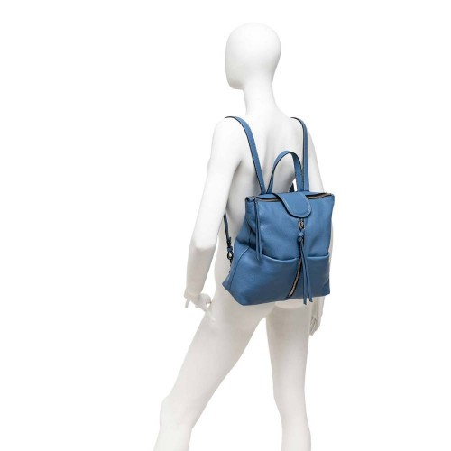 Gianni Chiarini Giada Blue Leather Backpack