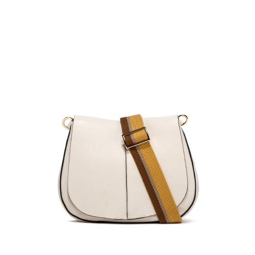 Gianni Chiarini Helena Large Ecru Shoulder Bag