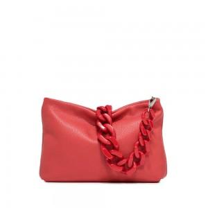 Gianni Chiarini Brenda Red Leather Shoulder Bag