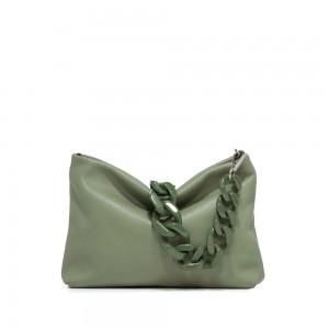 Gianni Chiarini Brenda Olive Green Leather Shoulder Bag