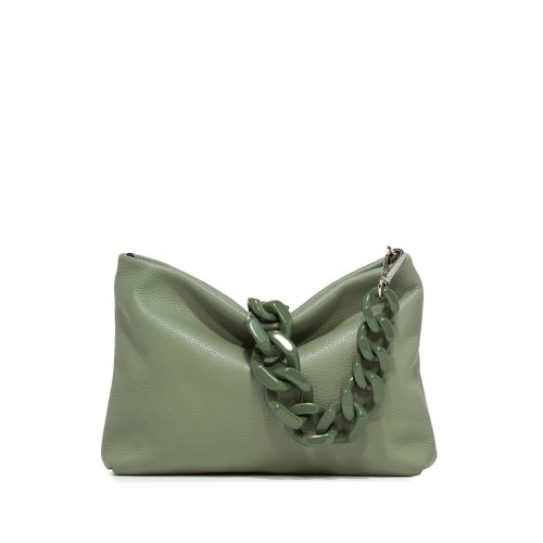 Gianni Chiarini Brenda Olive Green Leather Shoulder Bag