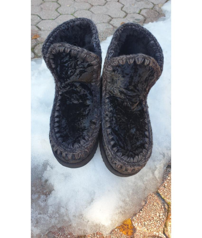 Mou Boots Eskimo 18 Velvet Black Sheepskin