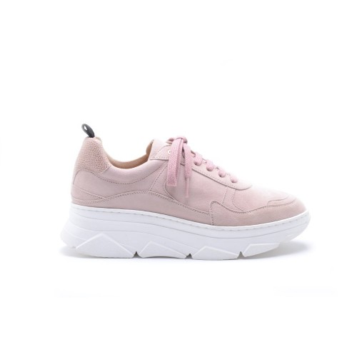ΚΜΒ Lace Up Old Pink Suede Sneakers