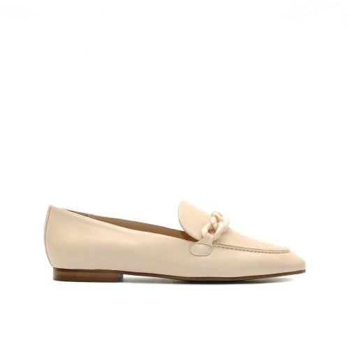 KMB Beige Napa Leather Loafers