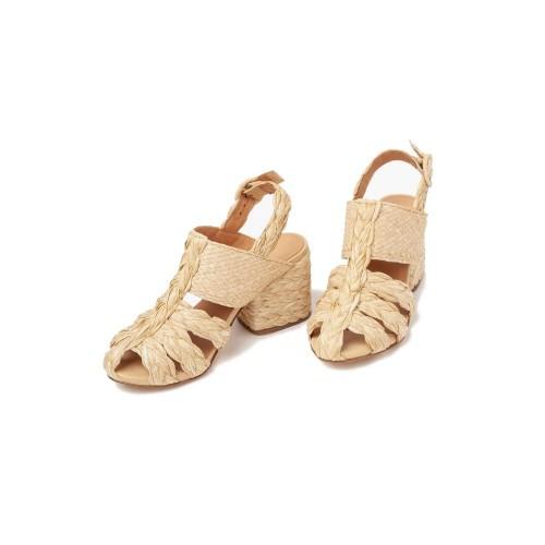 Paloma Barcelo Icana Raffia Sandals