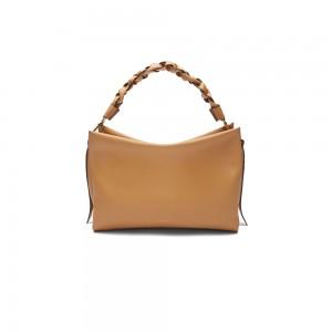 Coccinelle Boheme Warm Beige Leather Shoulder Bag