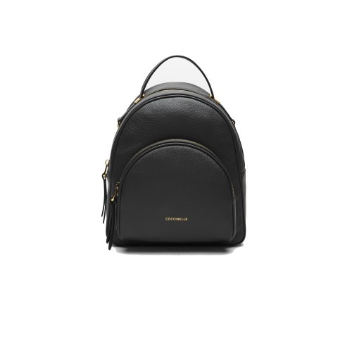Coccinelle Lea Black Leather Backpack