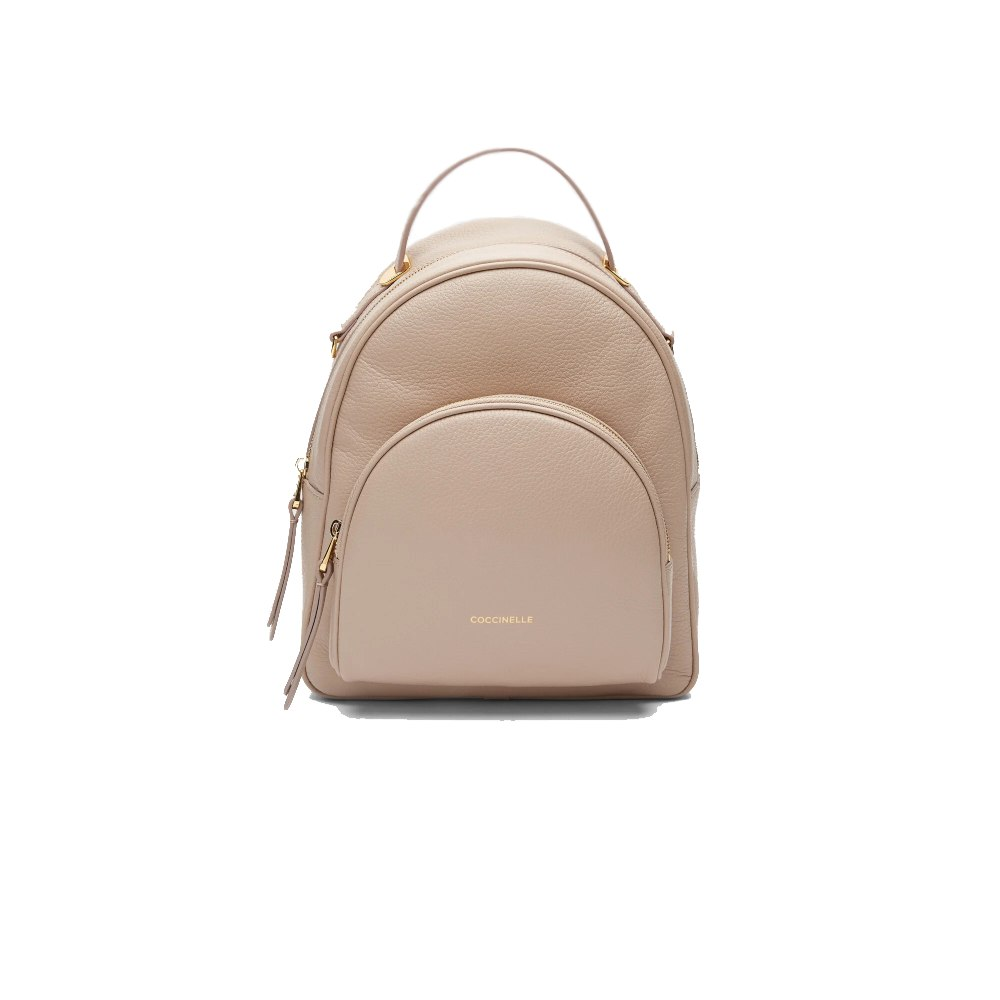 Coccinelle Lea Powder Pink Leather Backpack